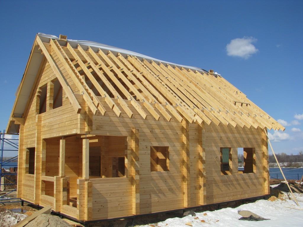 дом из бруса, строительство