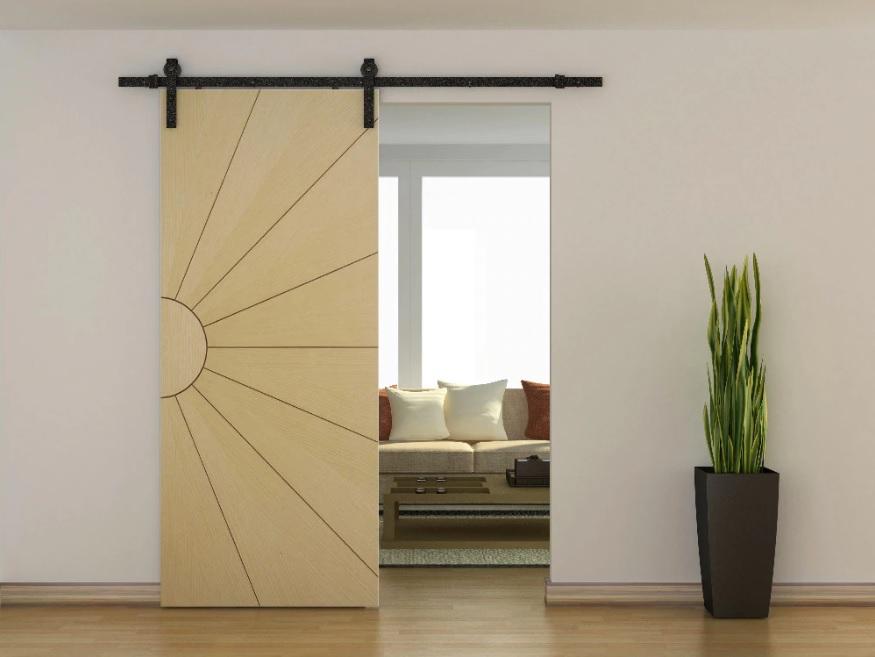 Фото подвесной раздвижной двери.