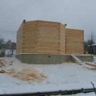 Начало постройки 2-го этажа