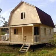 Дом из профилированного бруса двухэтажный с террасой